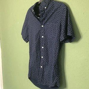 J. Crew Tops - J. Crew Secret Wash Shirting Slim Navy Shirt XS